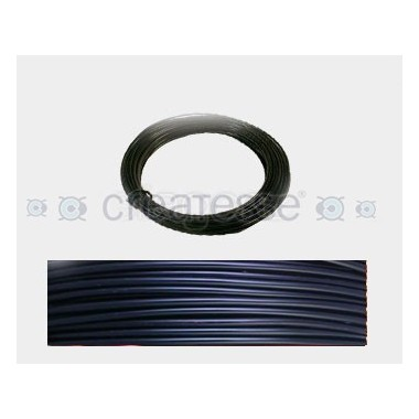 CABLE ALUMINIO MALEABLE 1MM NEGRO BTE -12 METROS