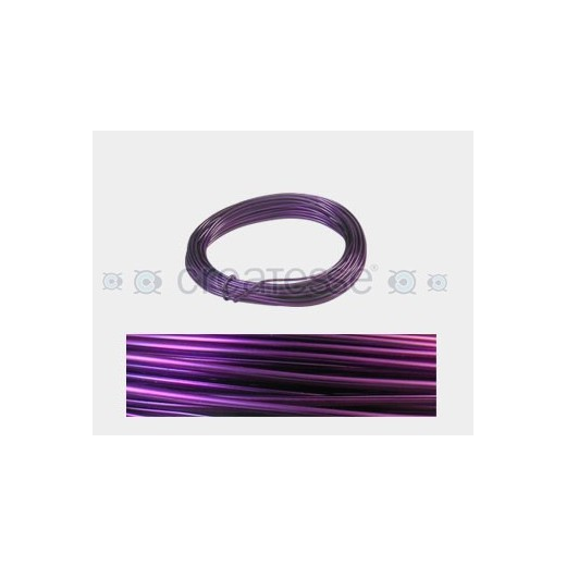 CABLE ALUMINIO MALEABLE 1MM PURPURA -12 METROS