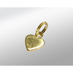 COLGANTE CORAZON 6MM CHAPITA 925