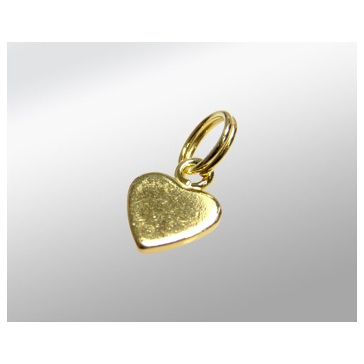 COLGANTE CORAZON 6MM CHAPITA DORADA 925ML