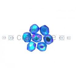 BOLA FACETADA 6MM 6031 CAPRI BLUE AB (25 UNIDADES)