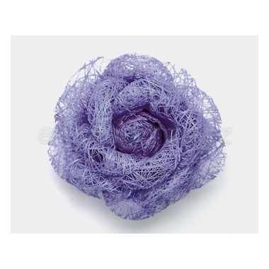 FLOR RAFIA 75MM PURPURA