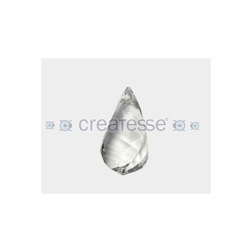 COLGANTE HELIX 37MM- 1UN 001 SILVER SHADE SWAROVSKI ELEMENTS