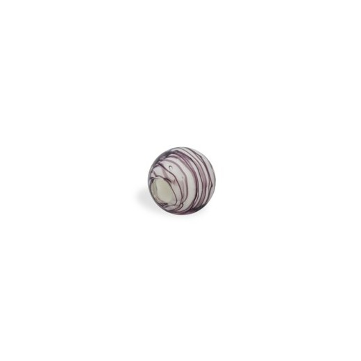 CRISTAL WAVED STRIPES 14MM (TAL. 4MM) MALVA BLANCO