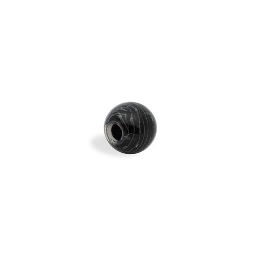 CRISTAL WAVED STRIPES 14MM (TAL. 4 MM) NEGRO BLANCO