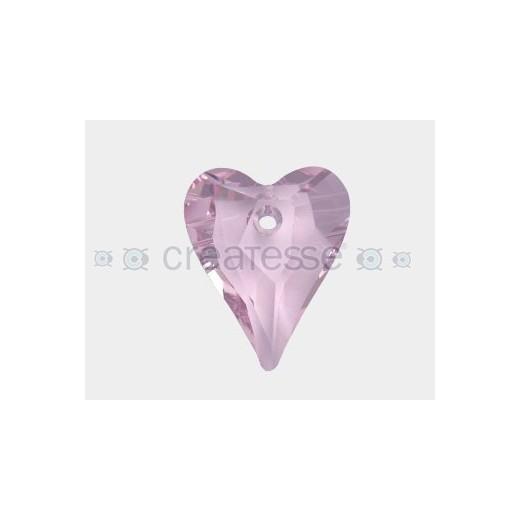 CORAZON 37X30 ID 3MM - 1 UD 508 ROSALINE SWAROVSKI