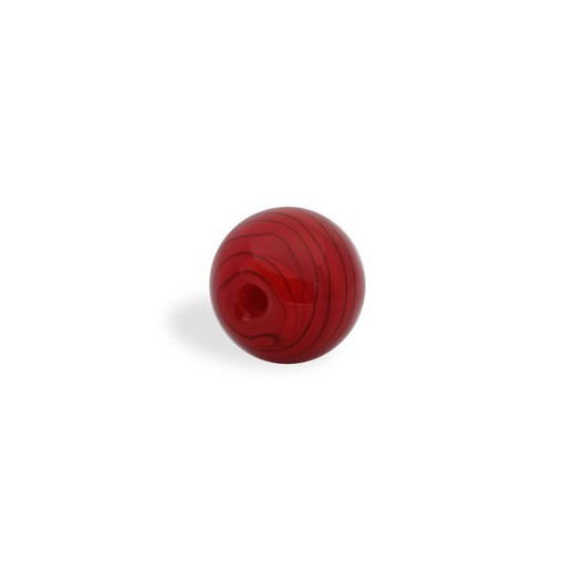 CRISTAL WAVED STRIPES 18MM TALADRO FINO 02 ROJO (ID 1MM)
