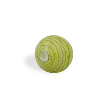 CRISTAL WAVED STRIPES 18MM TALADRO FINO 09 PERIDOTO (ID 1MM)