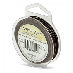 ARTISTIC WIRE GALGA 18 (1,02MM)-7,62M MARRON