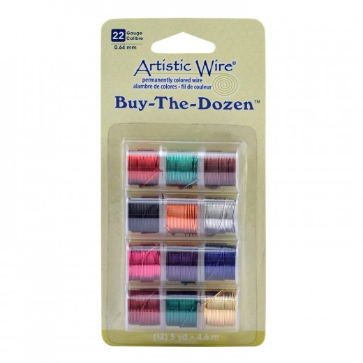 HILO ARTISTIC WIRE 0,64MM 12 CARRETES SURTIDOS (4,5 M-COLOR)