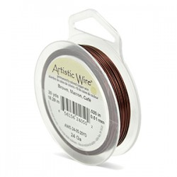 ARTISTIC WIRE GALGA 24 (0,51MM)-18,29M MARRON