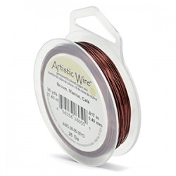 ARTISTIC WIRE GALGA 26 (0,40 MM)-27,43M MARRON