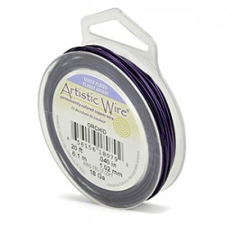 ARTISTIC WIRE GALGA 18 (1,02MM)-7,62M PURPURA