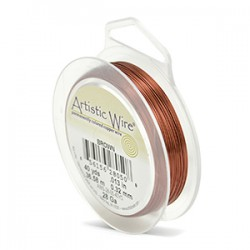 ARTISTIC WIRE GALGA 28 (0,32MM)-36,58M MARRON