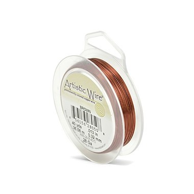 ARTISTIC WIRE GALGA 28 (0,32MM) -36,58M MARRON