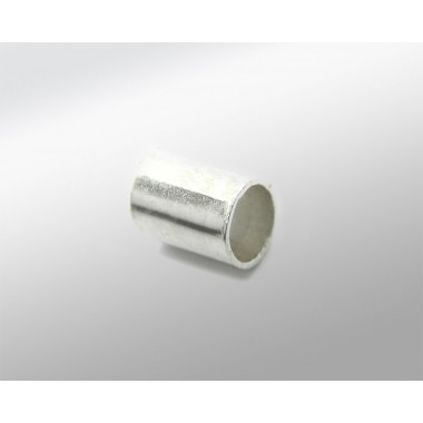 TUBO PLATA 8MM PARA CORDON 5MM