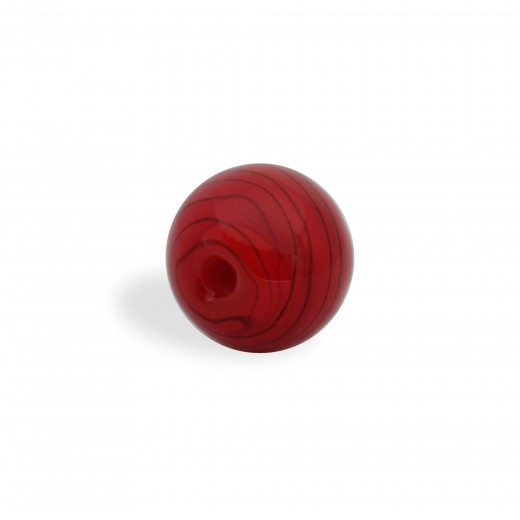 CRISTAL WAVED STRIPES 10MM ROJO NEGRO (ID 1MM)