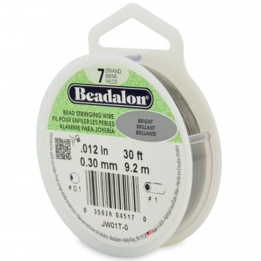 CORDON ACERO 7-012 BRILLANTE (0,30MM) 9,20M BEADALON -CARR.