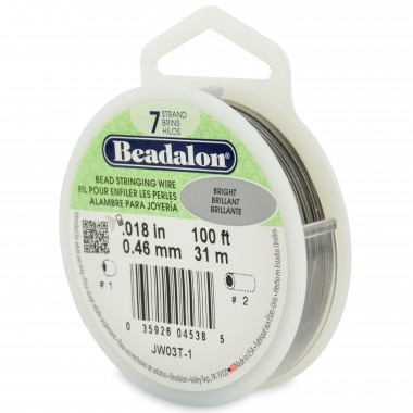CORDON ACERO 7-018 BRILLANTE (0,46MM) 9,2M BEADALON CARRETE