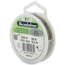 CORDON ACERO 7-024 BRILLANTE (0,61MM) 9,2M BEADALON CARRETE