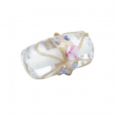 CRISTAL PASTEL 20X12MM CILINDRO TRANSPARENTE (ID 2MM)