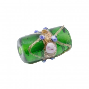 CRISTAL PASTEL 20X10MM CILINDRO VERDE (ID 2MM)