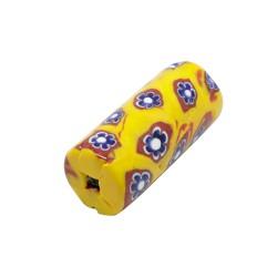 TUBO CRISTAL MILFLORES 35X15MM (ID 2MM) NARANJA-AZUL BRILLO