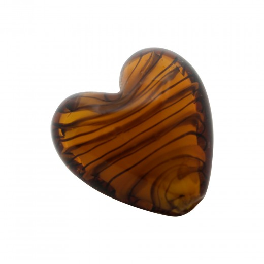 CRISTAL WAVED STRIPES CORAZON 18MM OJO DE TIGRE (ID 1MM)