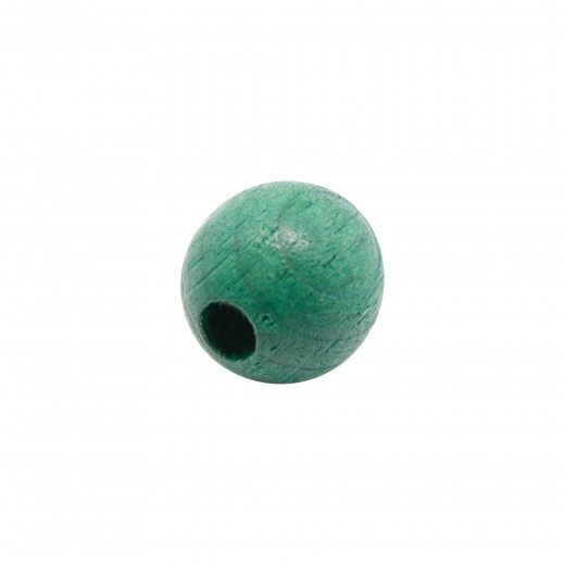 BOLA MADERA 12MM VERDE OSCURO (ID 3MM)