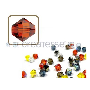 TUPPI 4 MM- 24 UN 374 INDIAN RED SWAROVSKI
