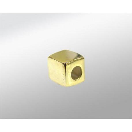 CUBO 4X4 ((ID 2MM) PLATA 925ML DORADA